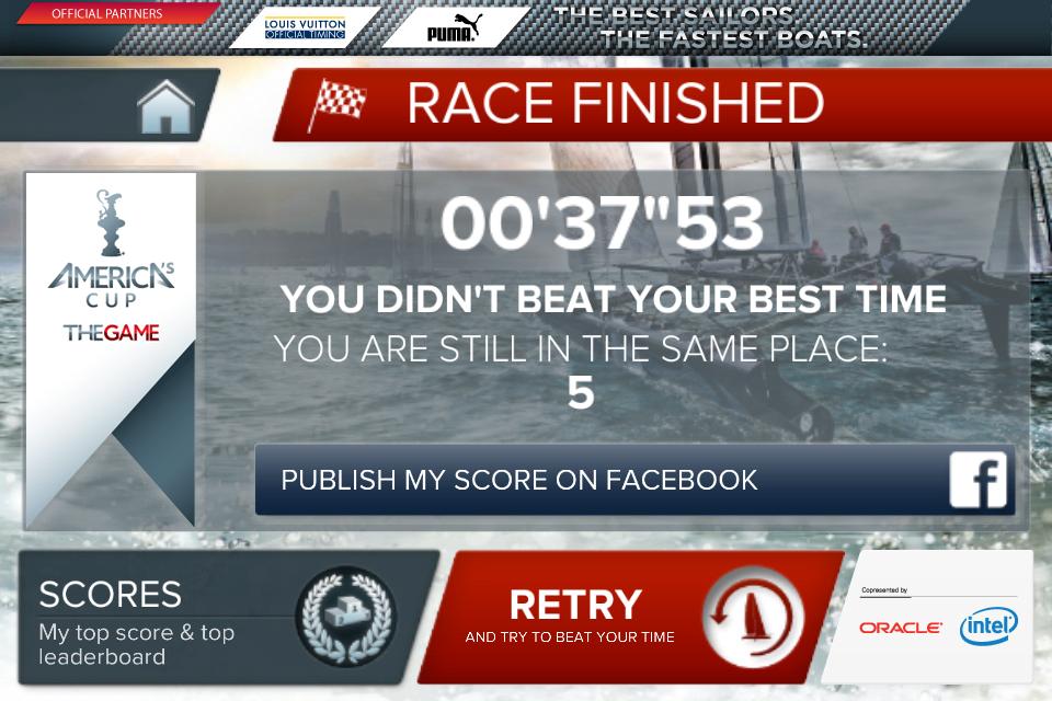 Screenshot America's Cup – Speed Trials